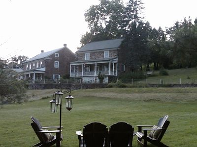 View of houses from front pasture