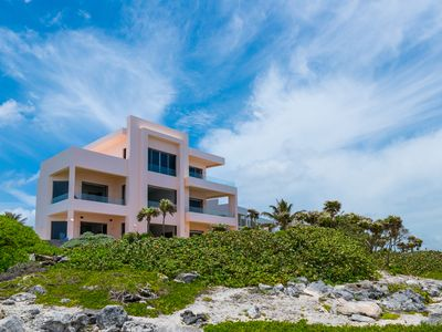Photo for Fantasea, Stunning Oceanfront Contemporary villa close to Akumal!
