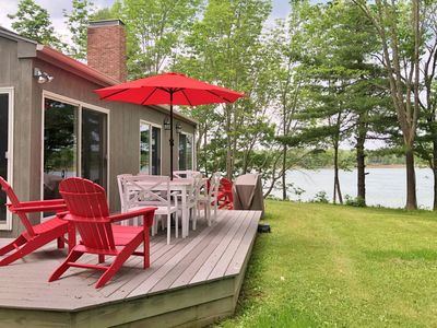 Photo for 3BR, 2BA Oceanfront Home with Stunning Easterly Views of Harpswell Sound