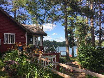 Photo for Relax, Unwind and Enjoy the Serenity of a Vintage Rustic Lakefront Vacation