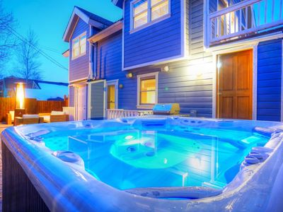 Private hot tub and large deck