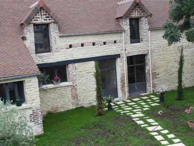 Photo for Beautifully renovated elegant old house in Cabourg center, large garden