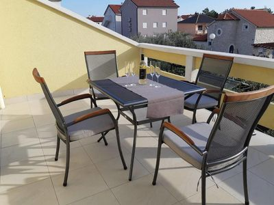 Photo for Two bedroom apartment with terrace Vrsi - Mulo, Zadar (A-5859-c)