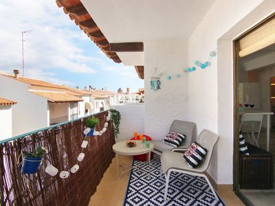 Photo for Modern apartment w/ large terrace & mountain/city view - walk to beaches