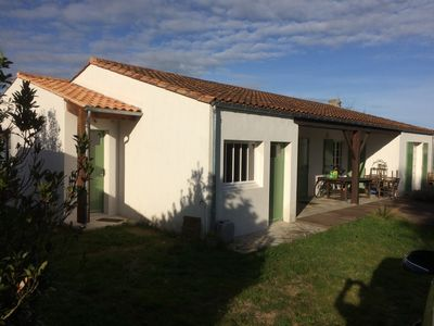 Photo for Very nice house in garden closed and calm - very close sea and center town