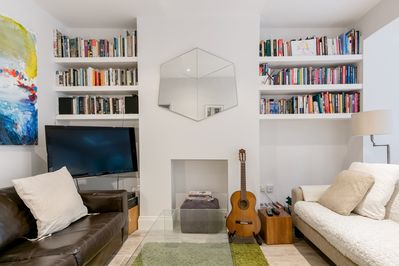 The seating area - relax and watch a movie or read a book!