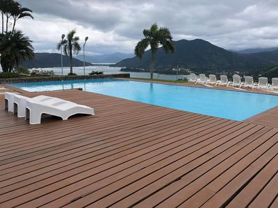 Photo for Ubatuba Balconies 03 beds, Leisure Area and a Lush Sea View
