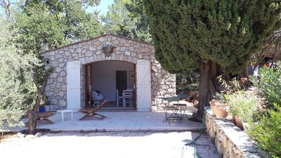 Photo for Stone shed in wooded property