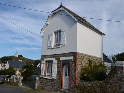 Photo for Small independent house 150m from the beach of Pléneuf-Val-André