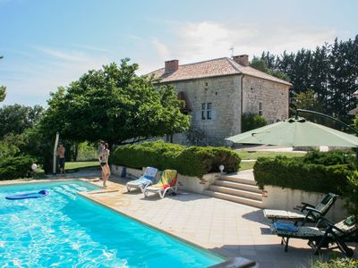 Photo for Double gite on a quiet domain with large swimming pool and a park-like garden.