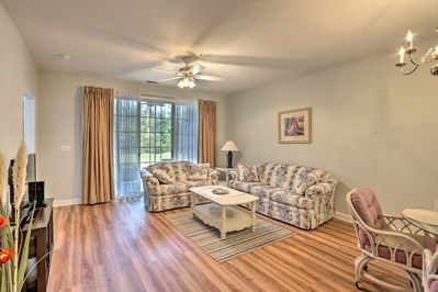 Return to this 2-bedroom, 2-bath vacation rental after a trip to the beach!