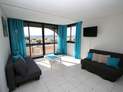 Photo for SUPERB STUDIO in LE BARCARES 4 pers. SEA FRONT
