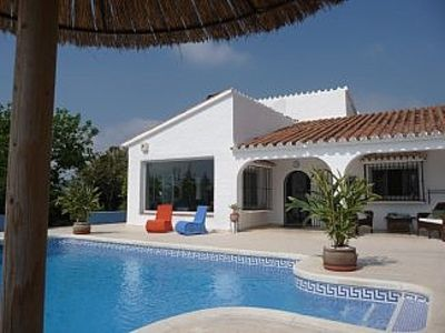 Photo for Popular Villa With Large Private Garden And Pool. Mountain/Sea Views, Eclectic.