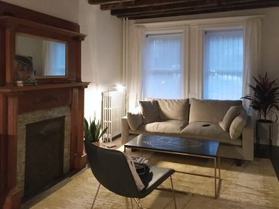 Photo for Historic Bed Stuy Brownstone Apartment with Private Outdoor Space
