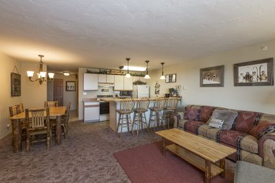 Open Kitchen, Living room, Dining area