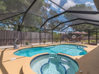 Photo for Spacious and beautiful Floridian Villa w/Pool/Tub!