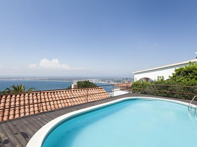 Photo for Nice house overlooking the bay of Roses and with private pool. Two bedrooms, one bathroom