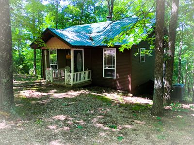 Photo for Ozark Spring Cabins Cliff Side #2, King Bed, Giant Spa Tub, Kitchen, Secluded, Private Deck W/ View