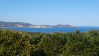 Photo for House overlooking Gulf of Calvi and old village view of Lumio.