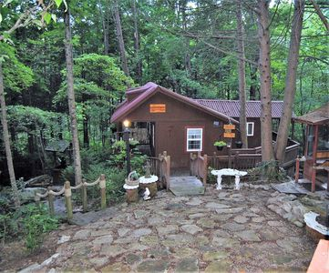 Photo for Small Quiet Cabin Nestled in the Woods!