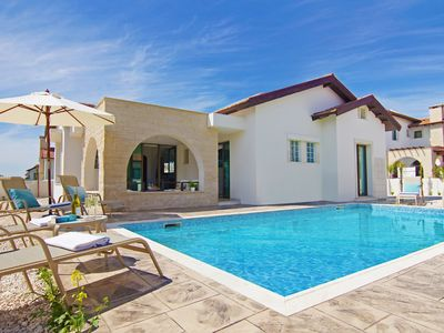 Photo for Odessa Villa - Deluxe Single Storey Villa with Private Pool, located in the coastal area of Ayia Thekla and just 300 meters from the Sea! Free WiFi