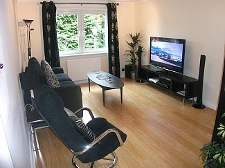 Boswell Upper Living Room with Large Flatscreen TV and Complimentary Sky TV