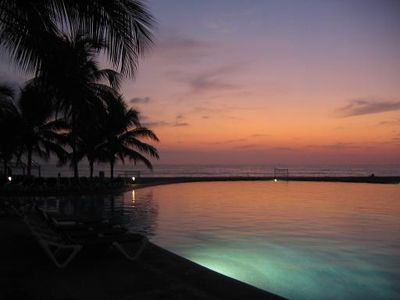 Sunset from one of the pools - Grand Mayan Acapulco