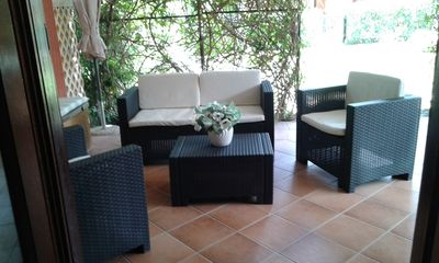 Photo for Costa Rei 150 m from the sea, air-conditioned townhouse with garden