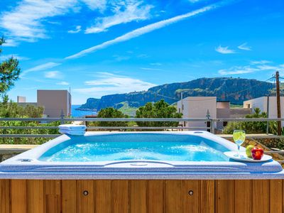 Photo for Villa Aphrodite Lindos - lovely villa with pool, hot tub, Wi-Fi & amazing views!