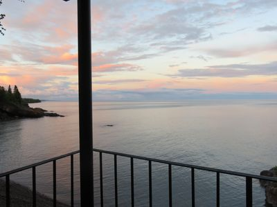 Photo for Be mesmerized by exceptional views of Lake Superior. Perched above the water!