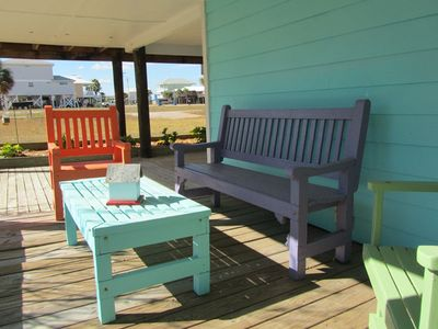 Outdoor - Outdoor seating underneath the cottage
