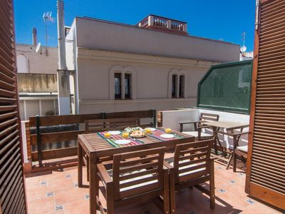 Photo for TARANNA Charming penthouse in the center of Sitges and next to the beach