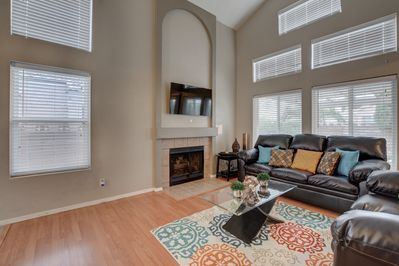 Nice and spacious living room to enjoy and watch a movie!