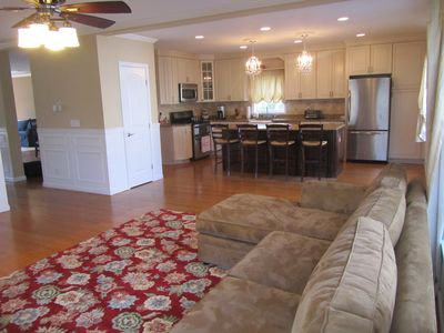 Open floor plan family room and kitchen