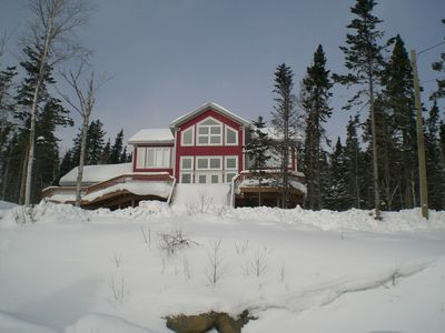Photo for Luxury chalet w/3 bedrooms, large terrace w/lake view & golf course