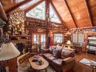Photo for Rustic and Charming Cabin in Richardson Bay on Round Lake