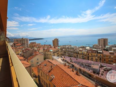Photo for Beautiful seaview apartment - two steps from Monaco