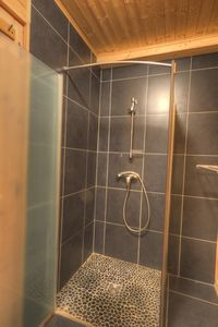 On of the 8 bathrooms/shower rooms