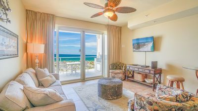 Photo for Enjoy a Beach Front Condo with Marvelous Views On Site Spa and Free Beach Chairs