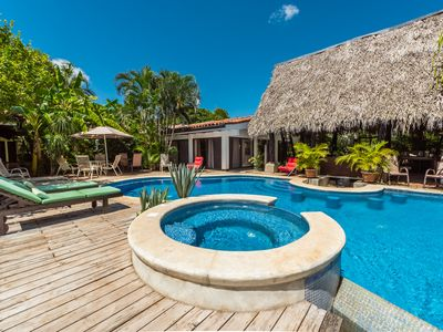 Photo for Whole Hacienda with 8 rooms, outside kitchen, jacuzzi, swimming pool & parking