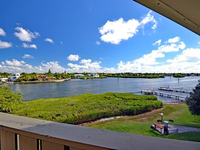 Photo for Waterfront Siesta Key Vacation Rental Condo with Heated Pool and Water Views