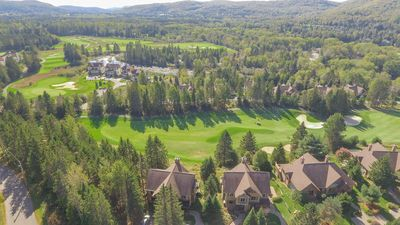 Aerial view of golf course and mountain view. Simply spectacular !