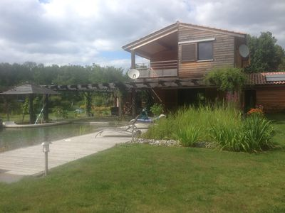 Photo for 2 Bed and Breakfast with large wooded garden and ecological bathing