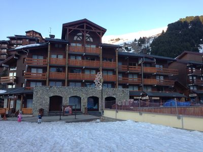 Photo for Méribel Mottaret 1750 mt at the foot of the slopes and shops facing Piou-Piou