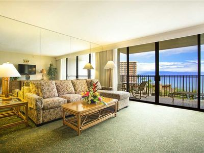 Photo for Aston Ka'anapali Shores Oceanfront 1bd Ocean view condo AKS 1BO-1