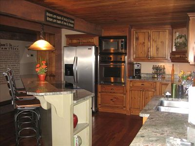 Gourmet Kitchen, with two ovens.