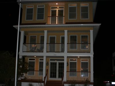 Photo for Luxury 4 Story Key West Style Home-7 houses to beach-roof deck-patio