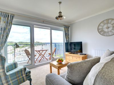 Photo for Brynawelon (Top of the hill with fresh air) is a delightful apartment with amazing sea views from yo