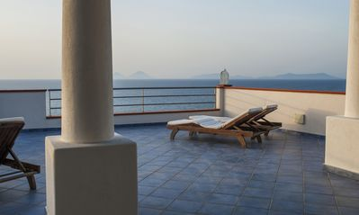 Photo for New 2-room apartments view on the Aeolian Islands ideal for couples and families
