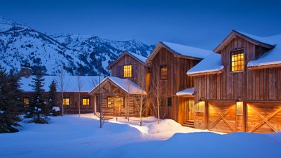 Photo for Luxury cabin with ski slope views in Teton Village